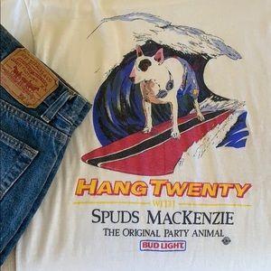 Vintage Bud-Light Spuds Mackenzie T-Shirt